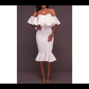 NWT Fashion Nova White off the shoulder dress